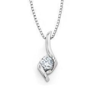 1.50 CARAT Solitaire round diamond pendant necklac